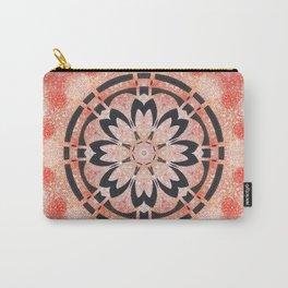 Black Flower Mandala  Carry-All Pouch
