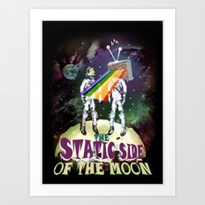 The Static Side of the Moon Art Print