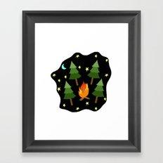 campsite Framed Art Print