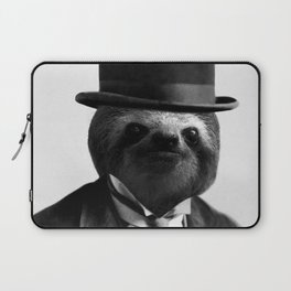 Sloth with Bowl Hat Laptop Sleeve