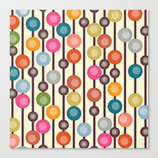 mocha chocca candy bubbles Canvas Print