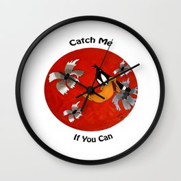 CATCH THE DUCK Wall Clock