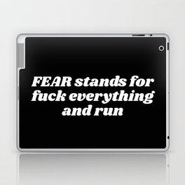 fuck everything and run Laptop & iPad Skin