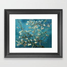 Blossoming Almond Trees, Vincent van Gogh. Famous vintage fine art. Framed Art Print