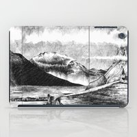iceland iPad Cases featuring Iceland by Justine Lecouffe