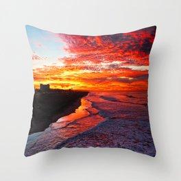 Sunrise Huntington Beach Pier   12/17/13 Throw Pillow