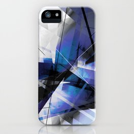 Divided by Glass - Geometic Abstract Art iPhone Case