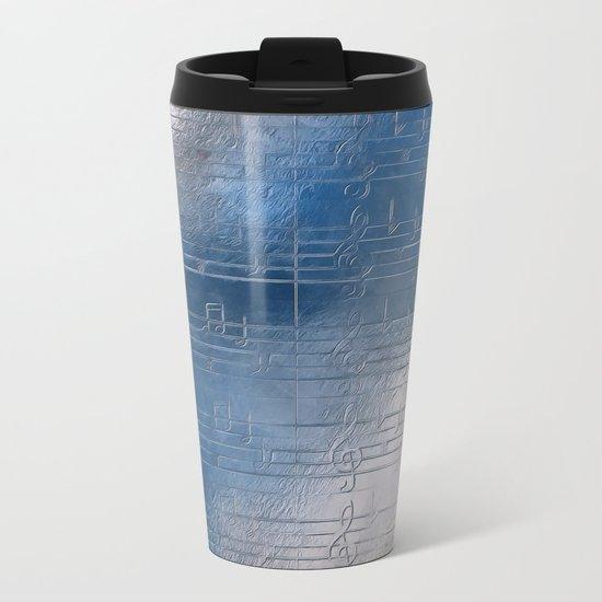Silver music Metal Travel Mug