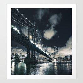 manhattan bridge in nyc Art Print