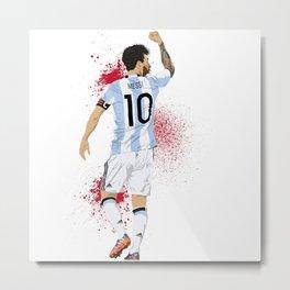 Lionel Messi Metal Print