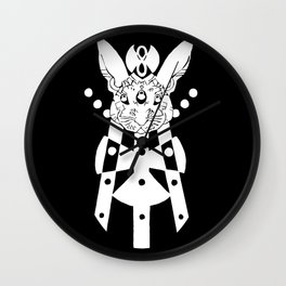 the mothership (white on black) Wall Clock