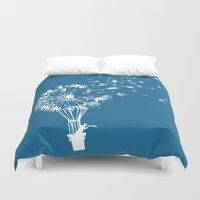 wind Duvet Covers featuring Going where the wind blows by Picomodi