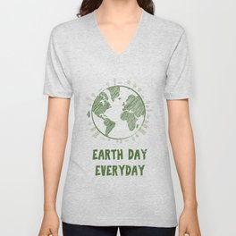 Earth Day Everyday Love the Planet Unisex V-Neck
