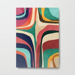 Impossible contour map Metal Print