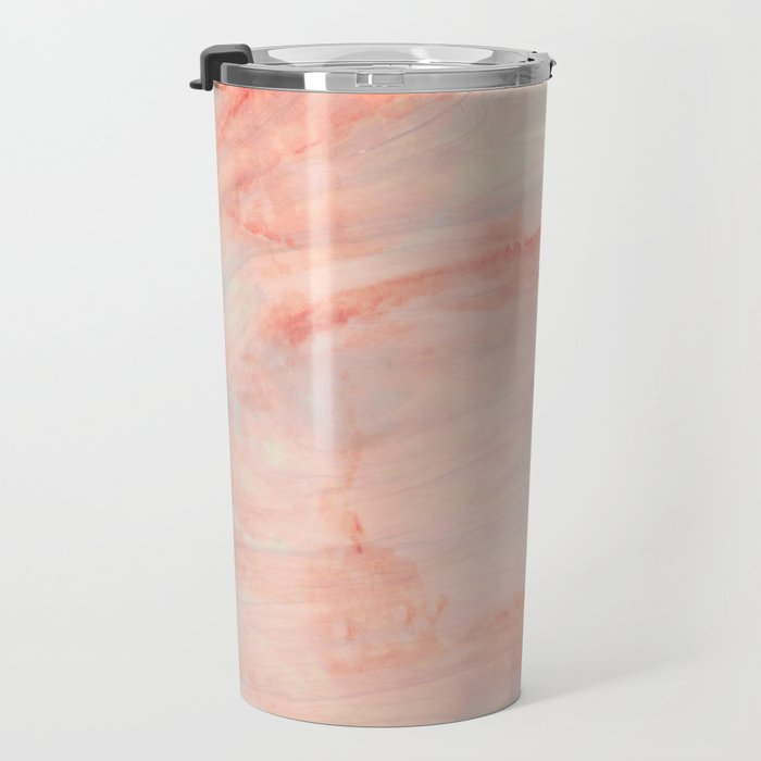 Dramaqueen - Pink Marble Poster Travel Mug