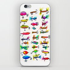 All the Fishing Lures - Illustration iPhone Skin