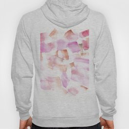180713 Red Pink Orange Art Abstract Watercolour 15| Watercolor Brush Strokes Hoody