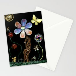 Happy Day in the Garden, Jewelry Scanography Stationery Cards
