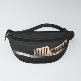 Cape Sounio at night Fanny Pack