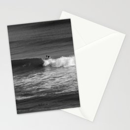 Surfer in Black and White Stationery Cards