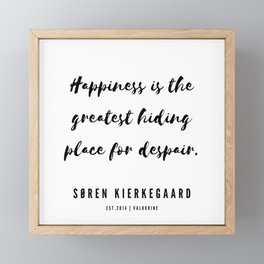 3     | Søren Kierkegaard Quotes | 190523 Framed Mini Art Print