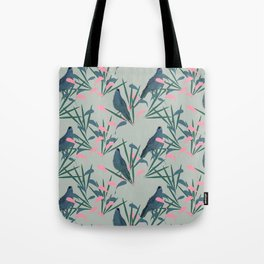 Kokako Wallpaper Pattern Tote Bag