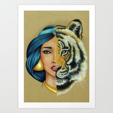 Jasmine & Rajah Art Print