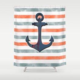 Vintage Anchor Shower Curtain