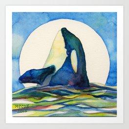 Orca Moon Art Print