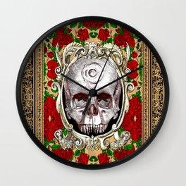 Infinitum - Macabre Gothic Skull Wall Clock