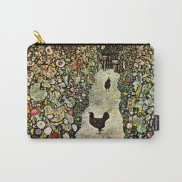 "Gustav Klimt ""Garden Path with Chickens"" Carry-All Pouch"
