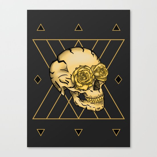 Golden Skull composition  Canvas Print