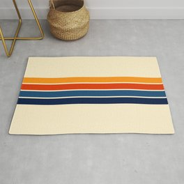 Classic Retro Stripes Rug