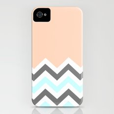Color Blocked Chevron 11 iPhone (4, 4s) Slim Case