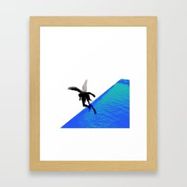Icarian Fall#4: ABoyThatFellFromTheSky Framed Art Print