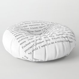 Choose Life Trainspotting Movie quote Floor Pillow