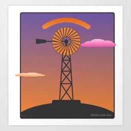 windmill glance Art Print