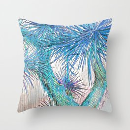 Joshua Tree VGBlue by CREYES Throw Pillow