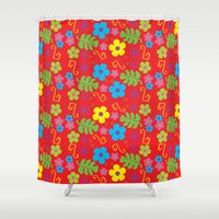 hawaiian Shower Curtains featuring Hawaiian Shirt by steckfigures