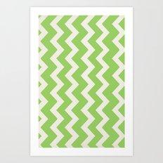 Crazy for Chevron - Lime Art Print