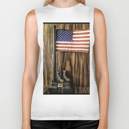 In Gratitude To Our Country and Military People Biker Tank