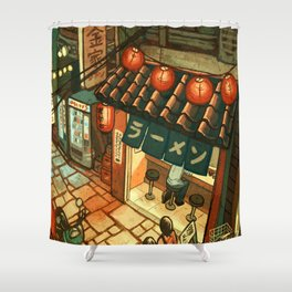 Ramen in the Alley Shower Curtain