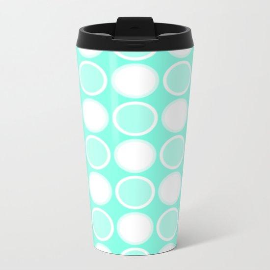 Mint Circles Metal Travel Mug