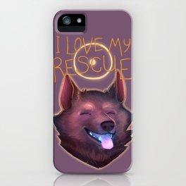 I Love My Rescue iPhone Case