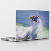 surfer Laptop & iPad Skins featuring Surfer by Breathstone Photography