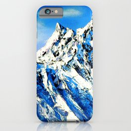 Panoramic View Of Everest Mountain Peak iPhone Case