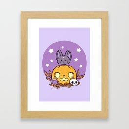 Pumpkin Cats Son Framed Art Print