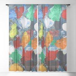 The Artist's Palette Sheer Curtain
