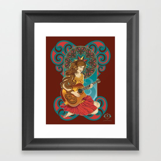 Acoustic Girl Framed Art Print