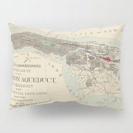 Vintage Map of NYC & The Croton Aqueduct (1899) Pillow Sham